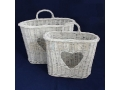 Rattan basket - set of 2