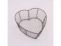Wire basket - brown - small