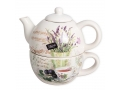Teapot and cup - lavender